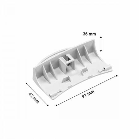 Nariz cierre bisagra congelador frigorifico     BOSCH       KGN36X2309       605358