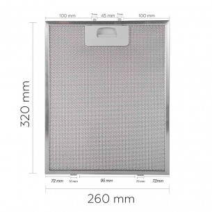 Filtro Campana Extractora TEKA 320x260mm DM60-90 40472918