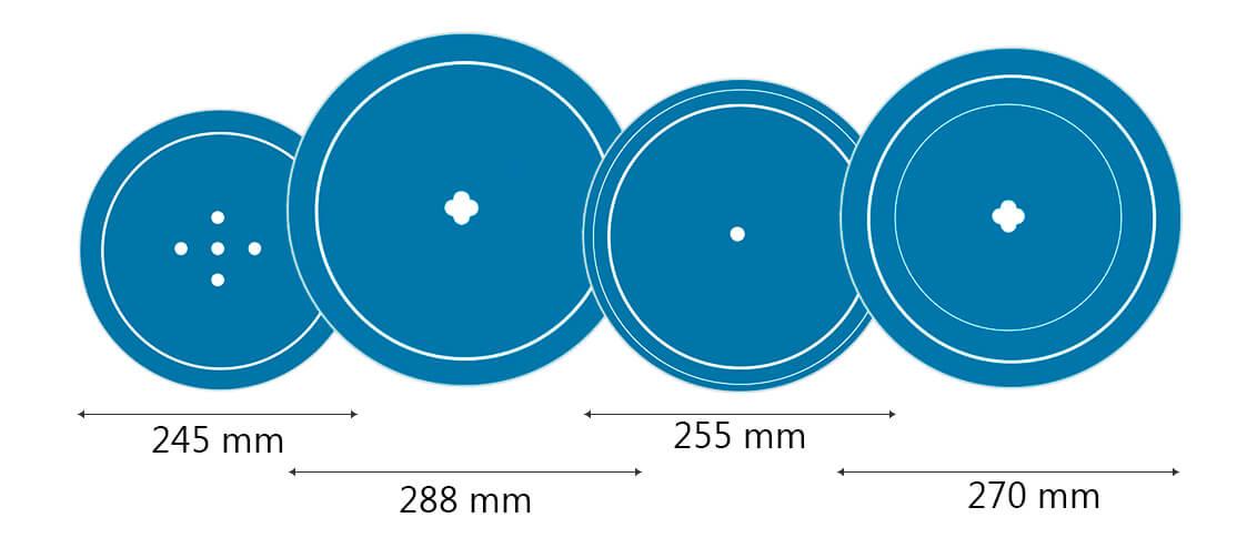 Medida Platos Microondas
